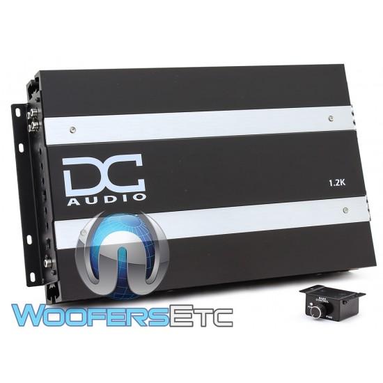 DC Audio 1.2K Monoblock 1200W RMS Linkable Digital Amplifier