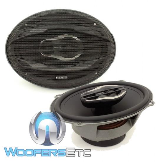 "Hertz MPX690.3 Mille Pro 6"" x 9"" 130 Watts RMS 3-Way Coaxial Speakers"