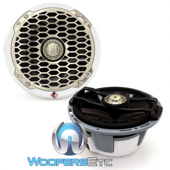 "Rockford Fosgate PM2652 White 6.5"" 85W 2-Way Full Range 4-Ohm Punch Series Marine Coaxial Speakers"