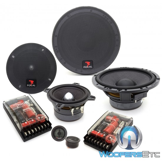 """Focal 165A3 6.5"""" + 4"""" Access 3-Way Component Speakers"""