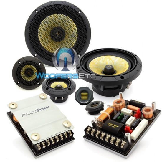 """P.65C3 - Precision Power 6.5"""" 400W Max 3-Way Component Speakers System"""