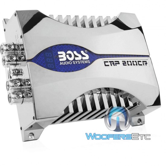 CAP200CR- Boss 20 Farad Car Audio Capacitor/Cap w/ Blue