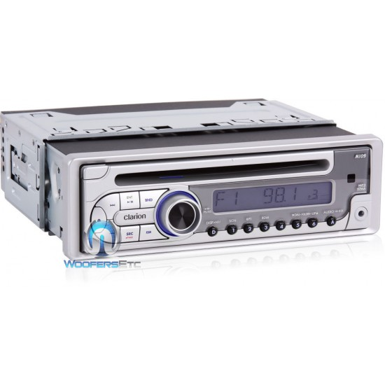 m109 - clarion marine cd, mp3, wma receiver with front panel aux input