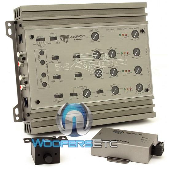 ASP-X4 - Zapco 2/3/4-Way Electronic Crossover