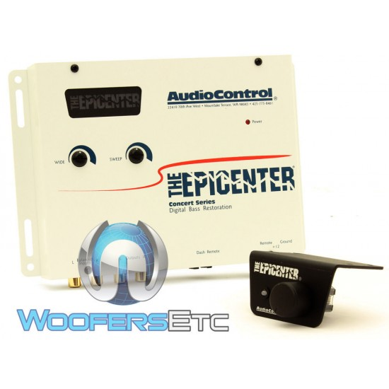EPICENTER WHITE - AudioControl Trunk Mount Bass Maximizer W/Wired Remote