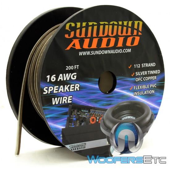 Sundown Audio SPKR16-200 - 200 Ft 16 AWG OFC Speaker Cable (Spool)