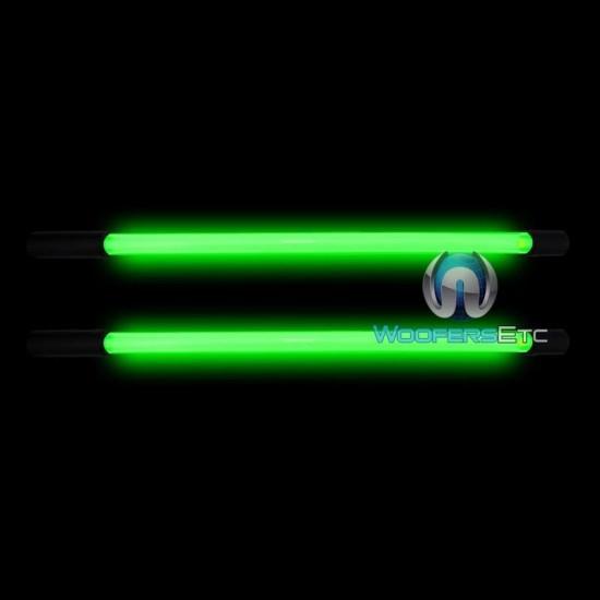 "G24S - Pair of Toxic Green 24"" Straight Neon Light Bars"