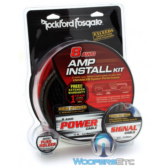 RFK8I - Rockford Fosgate 8-Gauge Amplifier Wiring Kit