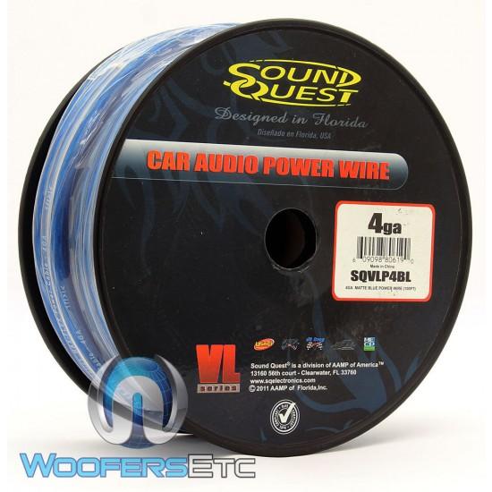 SQVLP4BL - Soundquest 4 GA 100 Feet Power Wire Matte Blue