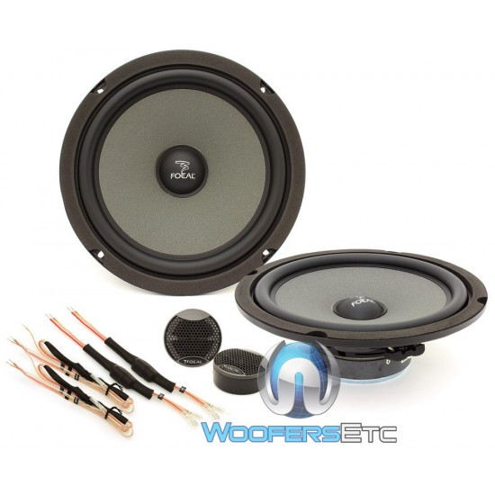 """Focal ISS 200 8"""" 2-Way Component Car Speaker System 80W RMS"""