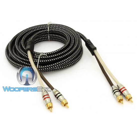 Sundown Audio 12 Ft SAZ 2 Channel Solid 100% OFC Copper Twisted RCA Cables