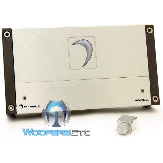 Diamond Audio HXM800.2D 2-Channel 800 Watts RMS Class D Full Range HXM Series Amplifier