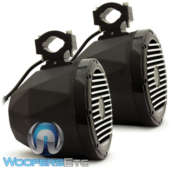 "Diamond Audio HXM8PODB 8"" 120 Watts RMS 2-Way Marine Coaxial Tower Speakers (Black)"