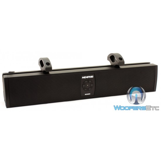 "Memphis 15-MXASB20v2 3"" (20"" Wide) 200 Watts RMS Amplified 6-Speakers Powersports Soundbar"