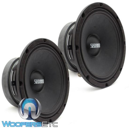 "Sundown Audio SXMP-8 4-OHM 8"" 250 Watts RMS Midrange Drivers (Pair)"