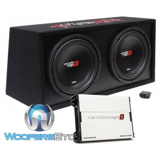 """Cerwin Vega BKX7212S 12"""" 1000W RMS Dual Subwoofers Sealed Amplified Enclosure"""