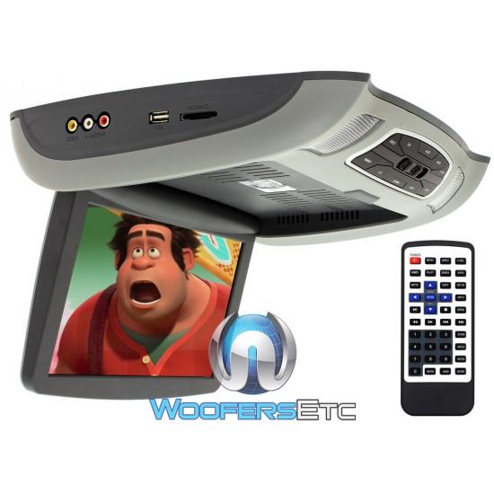 "Soundstream VCM-103DM 10.3"" LCD High Resolution Ceiling Mount DVD Player (Grey)"