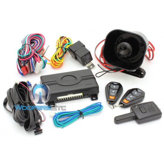 3105V - Viper 3-Channel 1-Way Car Alarm Security System with Keyless Entry and Two Remote Transmitters