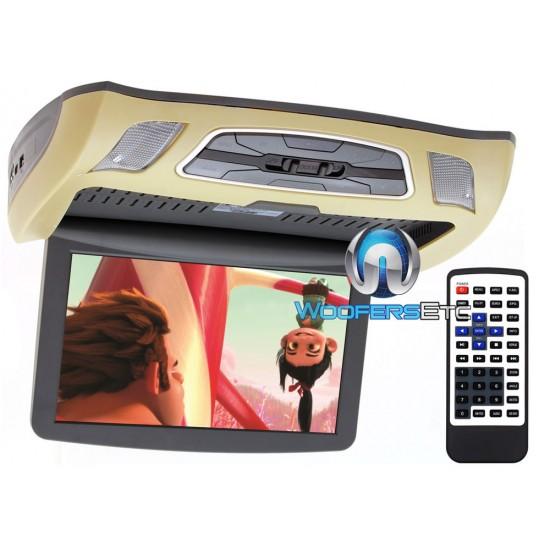"Soundstream VCM-103DM 10.3"" LCD High Resolution Ceiling Mount DVD Player (Beige)"