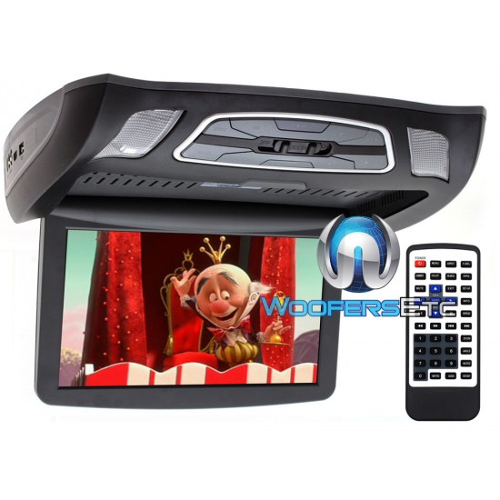 "Soundstream VCM-103DM 10.3"" LCD High Resolution Ceiling Mount DVD Player (Black)"