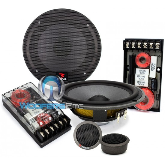 "165VRS - Focal 6.5"" Polyglass Shallow Component Speakers"