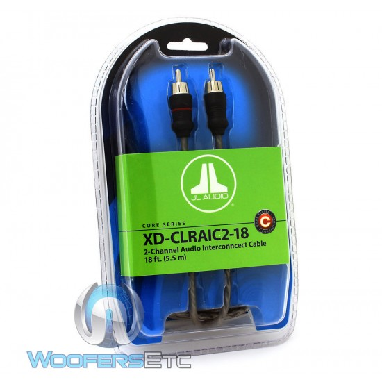 JL Audio XD-CLRAIC2-18 2 Channel 18 Foot Twisted Pair Audio Interconnect Cable
