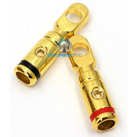 RT-8547 Gold - Perfomance Teknique 0 Gauge Ring Terminal