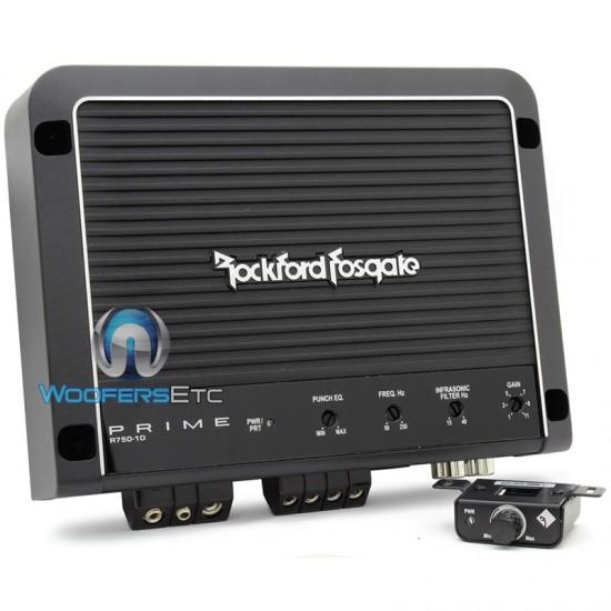 R750-1D - Rockford Fosgate Monoblock 750 Watt Prime Series Class D Amplifier