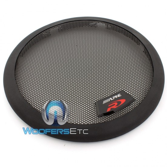 """KTE-8G - Alpine 8"""" Protective 2-Piece Subwoofer Grille for Type R, S, E"""