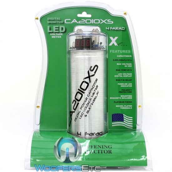 CA2010XS - Xpress 4 Farad Capacitor Grey with LED Voltage Meter