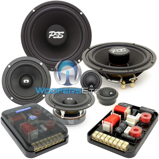 "ES-632iM - CDT Audio 6.5"" 3"" 230W RMS 3-Way Component Speakers System"