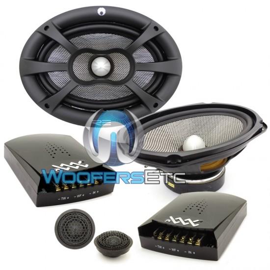 "XXX6.9C - RE Audio 6"" x 9"" 240W RMS 2-Way XXX Series Component Speakers System"