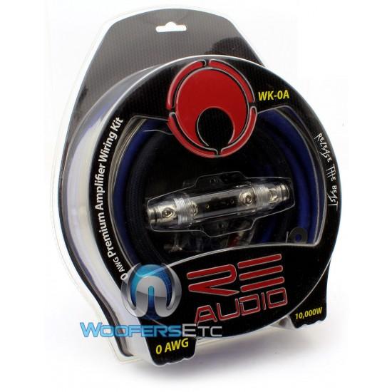 wk 0a re audio 1 0 awg complete amplifier installation kit rh woofersetc com