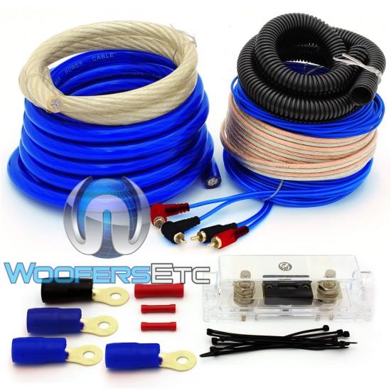 AK-012 Blue - GD Deluxe 0 AWG 6000 Watt Amplifier Installation Kit
