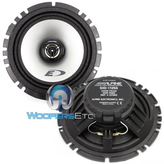"""SXE-1725S - Alpine 6.5"""" 2-Way 220 Watts Coaxial Speakers"""