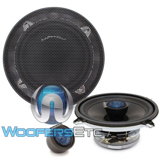 "Audiobahn AS50Q 5.25"" 80W RMS 2-Way AS-Series Coaxial Speakers"