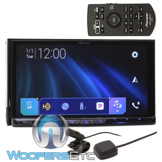 """Pioneer AVIC-W8500NEX In-Dash 2-DIN 6.94"""" Touchscreen DVD Receiver with Navigation, Bluetooth, Apple CarPlay, and SiriusXM Ready"""