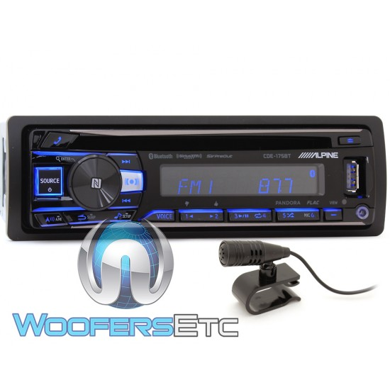 Alpine CDE-175BT In-Dash 1-DIN CD Car Stereo Receiver with