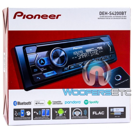 Pioneer DEH-S4200BT In-Dash CD/MP3/USB Car Stereo Receiver with MIXTRAX and Bluetooth