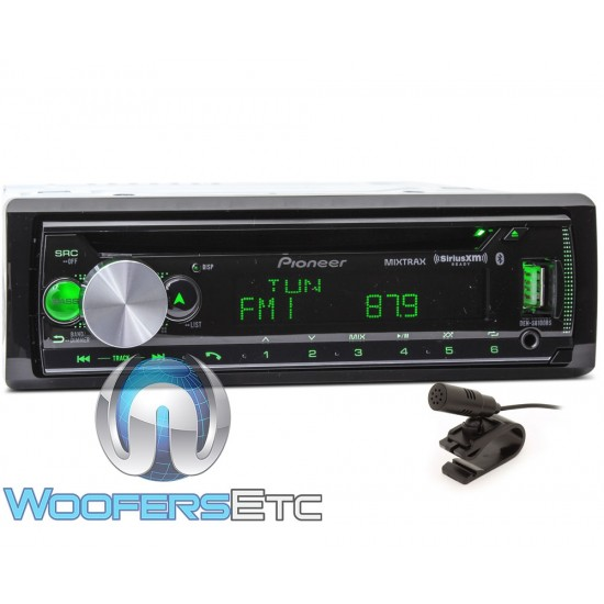Pioneer DEH-S6100BS In-Dash 1-DIN CD Car Stereo Receiver with Bluetooth and SiriusXM Radio