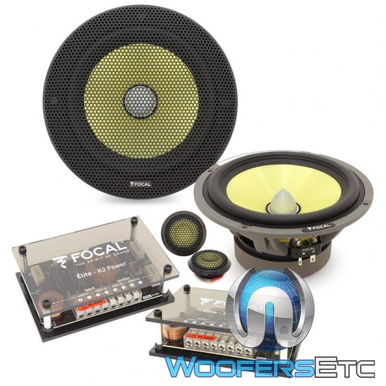"""Focal ES-165K2 6.5"""" 100W RMS 2-Way K2 Power Component Speakers System"""