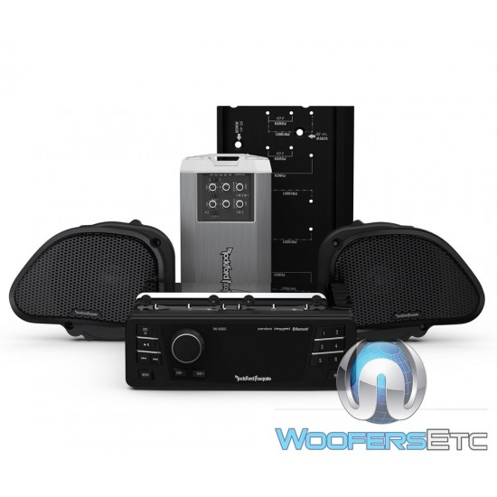 Rockford Fosgate HD9813RG-STAGE2 Audio Upgrade Kit for Select 1998-2013 Harley Davidson Road Glide Motorcycles