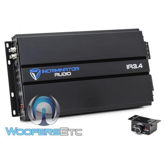 Incriminator Audio IA3.4 4-Channel 110W RMS x 4 Class AB Full Range Amplifier