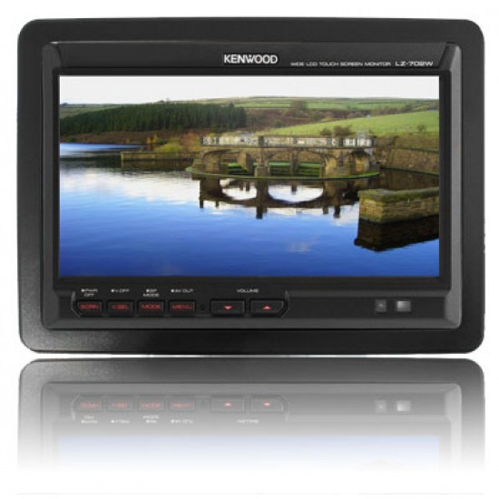 """LZ-702W - Kenwood 6.95"""" TFT-LCD Touchscreen Headrest Stand-Alone Monitor"""