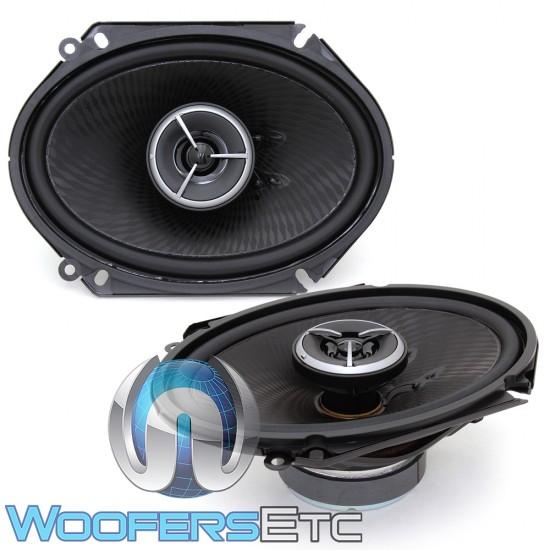 """Kenwood Excelon KFC-X683C 6"""" x 8"""" 60W RMS 2-Way Coaxial Speakers"""