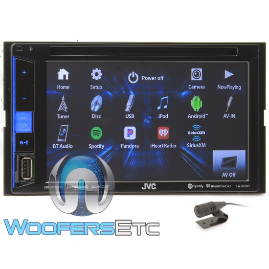 """JVC KW-V25BT In-Dash 2-DIN 6.2"""" Touchscreen CD/DVD/Digital Media Receiver with Pandora, Spotify, and iHeartRadio Control"""