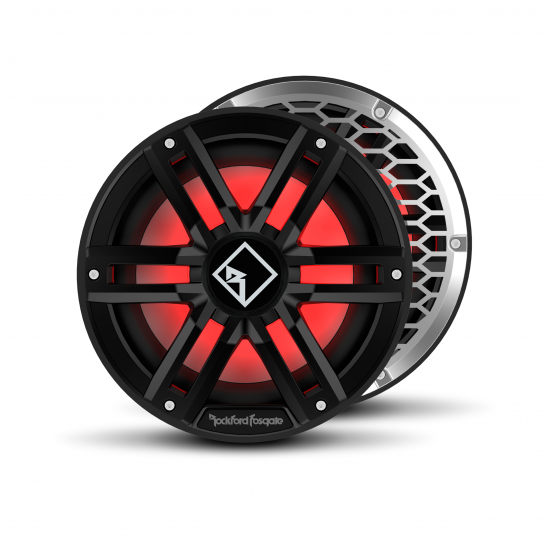 "M2D2-10IB - Rockford Fosgate 10"" DVC 2Ω 400W RMS Color Optix™ Infinite Baffle Marine Subwoofer (Black)"