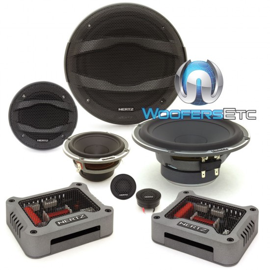 """Hertz MPK163.3 6.5"""" 150W RMS 3-Way Mille Pro Series Component Speakers System"""