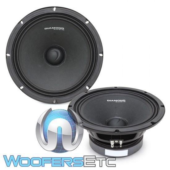 """Diamond Audio MSPRO8 8"""" 500W RMS Motorcyle Midrange Speakers"""
