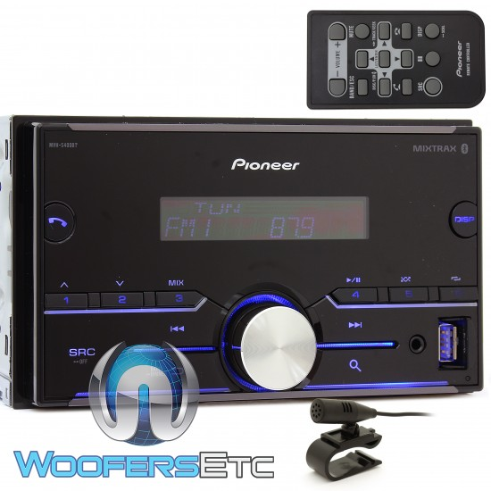 Pioneer MVH-S400BT In-Dash 2-DIN Digital Media Receiver with Bluetooth, Pandora, and Spotify Control